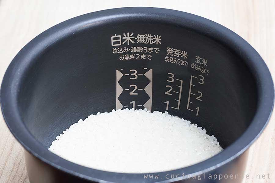 cestello per bollitore automatico di riso in bianco alla giapponese
