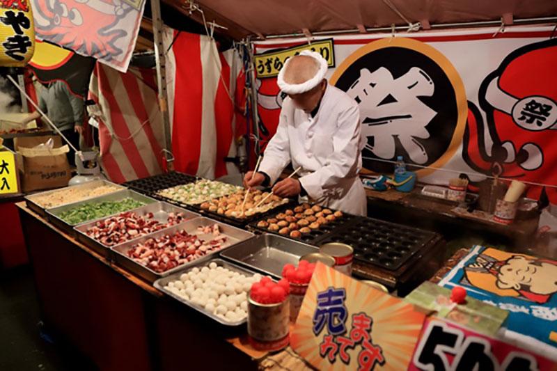 bancarella di takoyaki