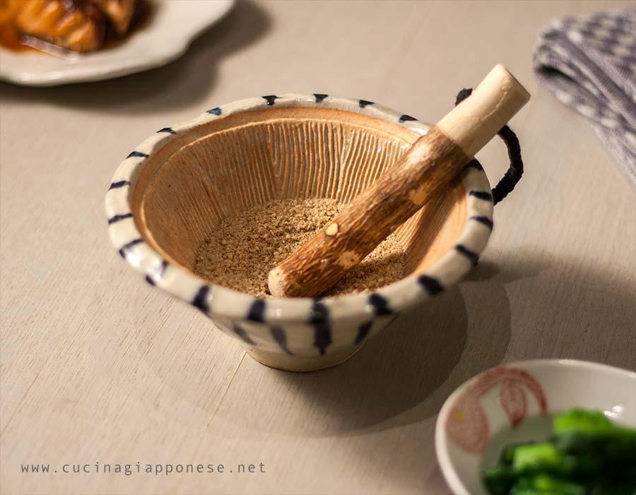 suribachi, mortaio giapponese