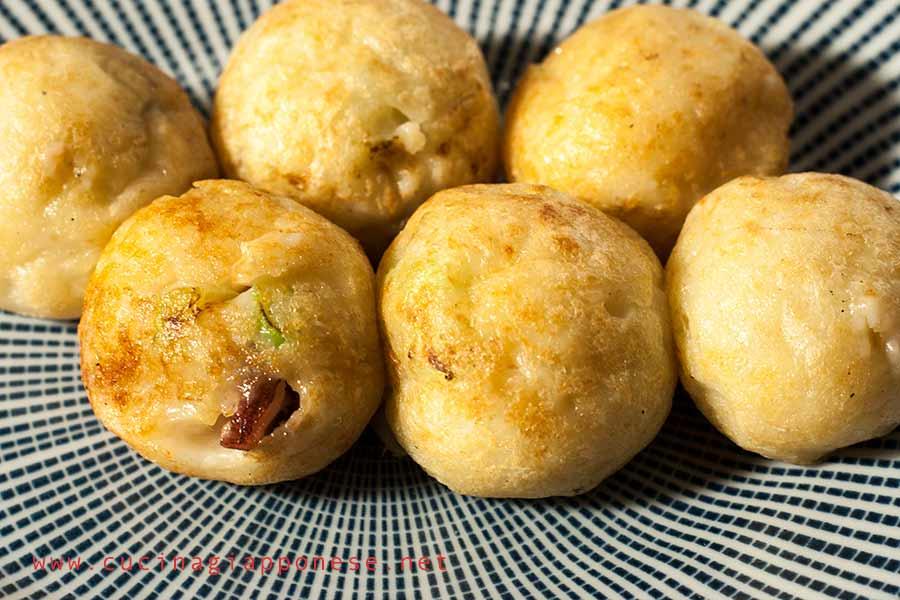 palline di takoyaki pronte